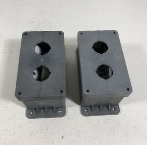 new Lot Of 2 Carlon Cp200n 2 hole Pushbutton Non metallic Enclosure
