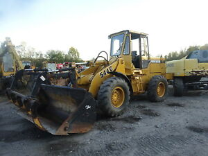 John Deere 544g Wheel Loader Runs Exc Video 7k Hours Jrb Q c Grapple Bucket 544