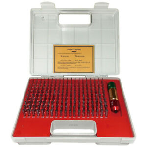 Pro series 190 Piece 061 250 Pin Gage Set With Certificate 4101 0041