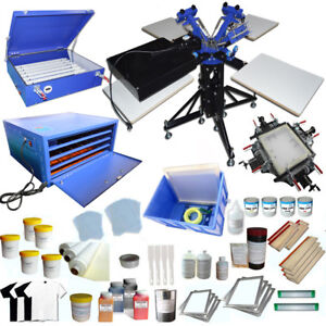 Full Screen Printing Starter Kit Press Machine Bundle Flash Dryer Screen Press