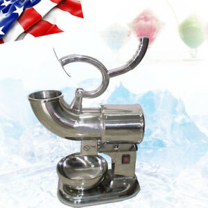 400lbs h Commercial Ice Shaver Machine Shaved Icee Maker Sno Snow Cone Usa Ship