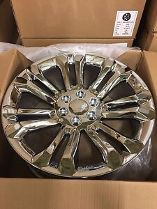 4 New Gmc Accessory Chrome Wheels Oe 24 24x10 Gmc Yukon Chevy Silverado Tahoe