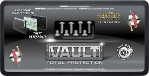 The Vault Total Security Anti Theft License Plate Cover Shield Black Clear