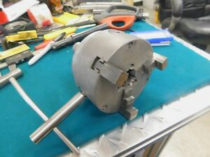 Westcott 3 jaw Chuck 4 Diameter 934w Mounted To 1 0 Straight Shank