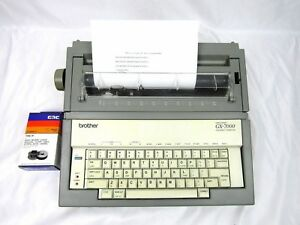 Brother Gx 7000 Electronic Correctonic Electronic Typewriter Tested