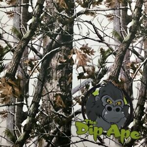 Woods In Winter Camouflage Camo Hydrographic Water Transfer Hydro Film Dip Ape