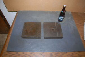 Lot Of 2 Steel Plate For Blacksmith Anvil 40 Lbs 8x8x1 1 8 Inv 27334