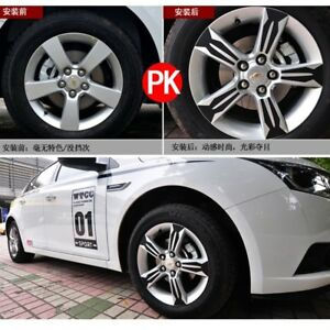 Car Carbon Fiber Wheel Hub Stickers Rim Sticker Decoration Special For Chevrolet