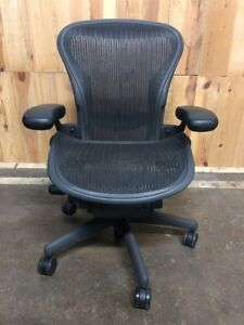Herman Miller Classic Aeron Chair Size A Small Fully Adjustable Graphite Frame
