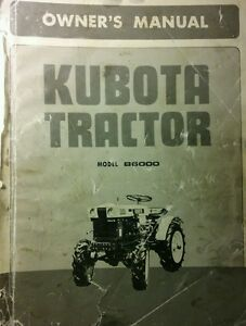 Kubota B6000 Diesel 4x4 2wd Farm Tractor Owner Operator Parts Manual 118pg