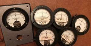 Vintage Weston Electric Model 301 William Miller Amp Meter Gauge Steampunk Lot