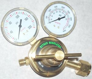 Oxygen Regulator For Cutting Welding Gas Or 19 Heavy Duty 2 1 2 Gauges