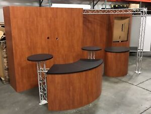 Nimlok 20 x10 Trade Show Exhibit Booth Woodgrain Custom Modular W crate