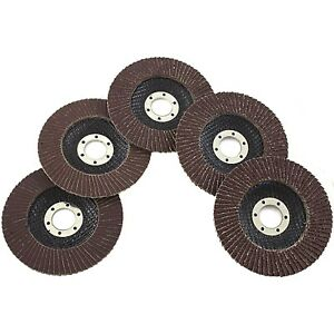 5 Piece Assorted Grit 4 5 Inch Flap Grinding Disc Wheels Sanding Grinding 80070