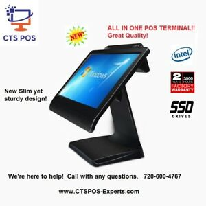 New All In One Restaurant Bar Grill Retail Pos System Fanless 2 Yr Warr