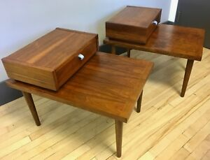 Pair Of Mid Century Modern End Side Tables By American Of Martinsville Mcm 2