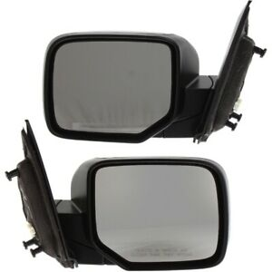 Mirror Set Of 2 For 2009 2015 Honda Pilot Heated Textured Black Left And Right