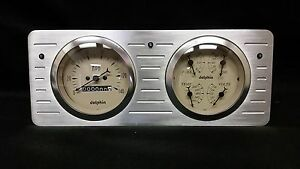 1940 1941 1942 1943 1944 1945 1946 1947 Ford Truck Quad Gauge Dash Cluster Tan