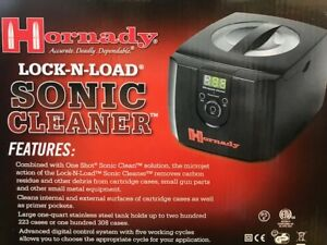 Hornady Lock-N-Load Sonic Cleaner Ultra Sonic Cleaning 043350 Inside Brass Clean