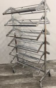 Shoe Rack Display With 12 Shelves Chrome
