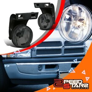 2pcs Smoked Lens Front Bumper Fog Light Lamps Lh Rh For 94 98 Dodge Ram Truck