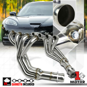 Ss Long Tube Exhaust Header Manifold For 05 13 Chevy Corvette C6 Z06 Ls2 Ls3 V8