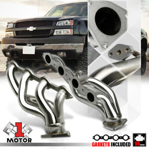 Stainless Steel Shorty Exhaust Header Manifold For 99 05 Silverado Sierra 6 0 V8