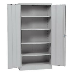 Sandusky Quick Assembly Steel Storage Cabinet Grey 36 W X 18 D X 72 H