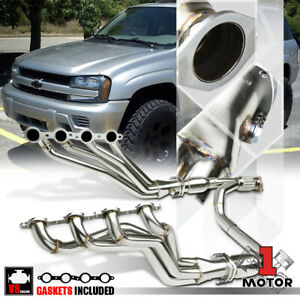 Ss Long Tube Exhaust Header Manifold y pipe For 06 09 Chevy Trailblazer Ss 6 0