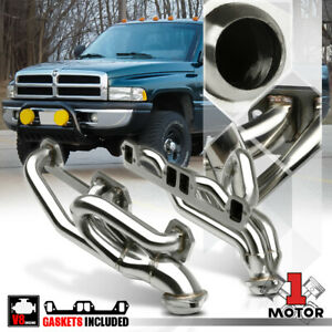 Stainless Steel Exhaust Header Manifold For 92 04 Ram durango dakota 5 2 5 9 V8