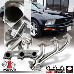 Stainless Steel Shorty Exhaust Header Manifold For 05 10 Ford Mustang 4 0 245 V6