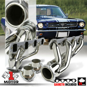 Stainless Steel Shorty Exhaust Header Manifold For 64 77 Ford Mustang 5 0 302 V8