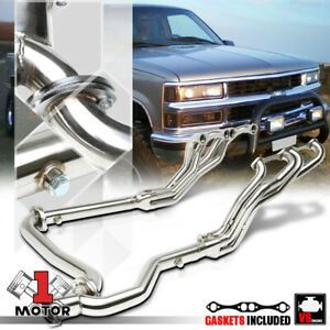 Ss Long Tube Exhaust Header Manifold Y Pipe For 92 00 Chevy C K Suburban 5 0 5 7