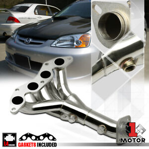 Stainless Steel 4 1 Exhaust Header Manifold For 01 05 Honda Civic Dx lx 1 7 D17a