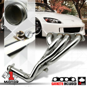 Stainless Steel Tri y Exhaust Header Manifold For 00 09 Honda S2000 F22c Ap1 ap2