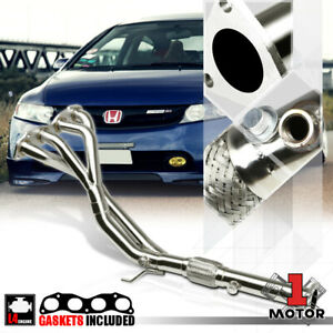 Stainless Steel Tri y Exhaust Header Manifold For 06 11 Honda Civic Si 2 0 K20