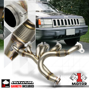 Ss Exhaust Header Manifold For 91 99 Jeep Wrangler Cherokee Yj Tj 4 0 242 6cyl