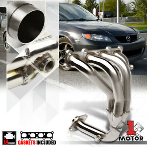 Stainless Steel 4 1 Exhaust Header Manifold For 01 03 Mazda Protege 5 2 0 4cyl