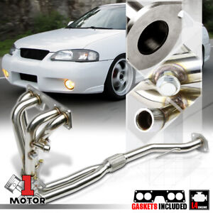 Stainless Steel Exhaust Header Manifold For 00 02 Nissan Sentra 1 8 Qg18de 4cyl