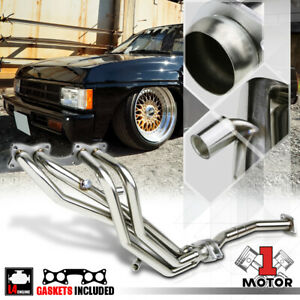 Stainless Steel Exhaust Header Manifold For 90 97 Nissan Hardbody D21 Pickup 2 4