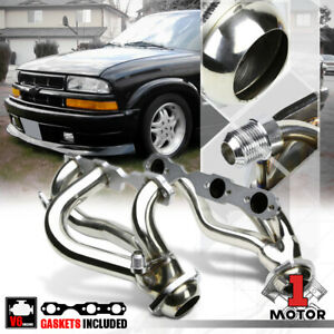 Stainless Steel Exhaust Header Manifold For 96 01 S10 blazer jimmy 4 3 262 4wd