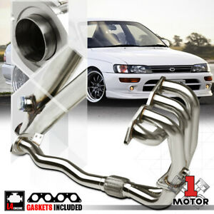 Stainless Steel Exhaust Header Manifold For 93 97 Toyota Corolla Ae101 4a f