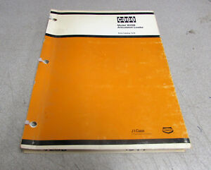 Case W20b Articulated Loader Parts Catalog Manual 1344 1977
