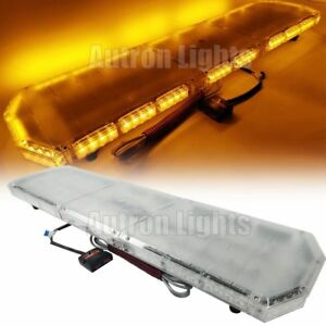 47 Amber Led Light Bar Emergency Beacon Tow Truck Plow Cargo Lights Yellow 88w