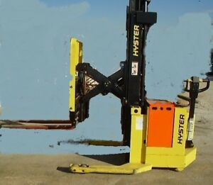 3000 Pound Hyster Electric Walkie Straddle Stacker Lift Truck Model W30xtr