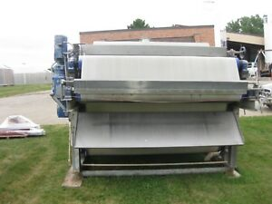 Ashbrook 2 2 Meter Belt Press Includes Control Cabinet And Hydraulic Pump