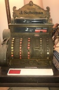 Antique Brass National Cash Register Model 452 W Marquee Serial 1210281 1911