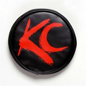 Kc Hilites 5110 Soft Light Cover Round Red On Black Vinyl Kc Letters 6