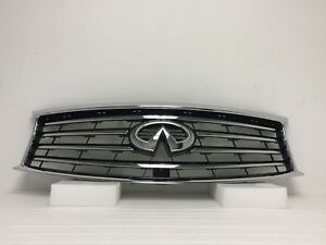 Fit For Infiniti Fx35 Fx37 Fx50 Qx70 Grille Chrome 62070 3ev0a 2