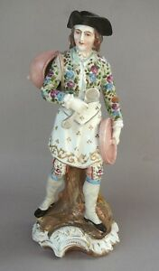 Antique German Volkstedt Porcelain Figure Of A Street Vendor